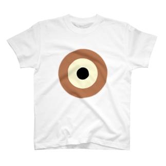 サークルa・カフェオレ・クリーム・黒 T-shirts