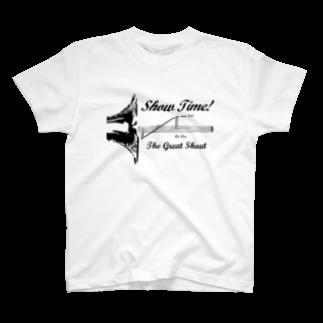 mosmos storeのShow Time! -black- T-shirts
