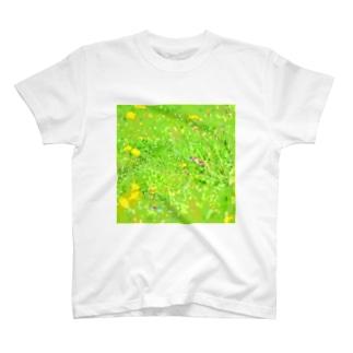 スズメとタンポポ T-shirts