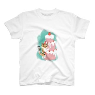 ヲカシなクリスマスケーキのアンズ T-shirts