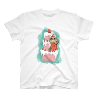 ヲカシなクリスマスケーキおかか T-shirts