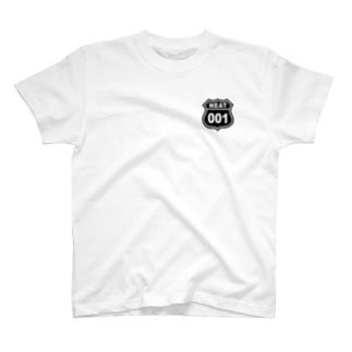 NEAT001ロゴワンポイントTシャツ淡色 T-shirts