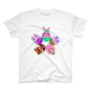 ちょりたん画伯キャラクターズ イースターバージョン T-shirts