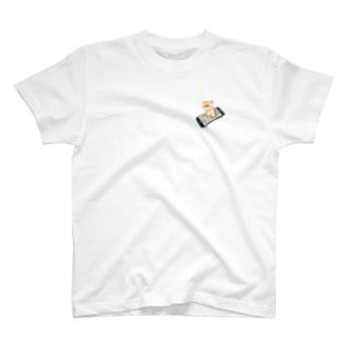ぷいんのあいふぉんSE×ネコ(こんどう) T-shirts