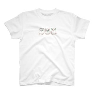 見たぬ•言わたぬ•聞かたぬ T-shirts