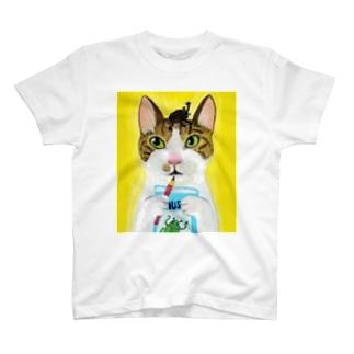 のっぴきならない/保護猫レッティ T-shirts