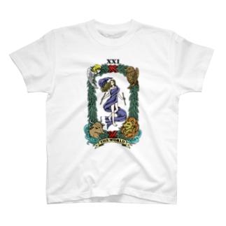 タロット THE WORLD T-shirts
