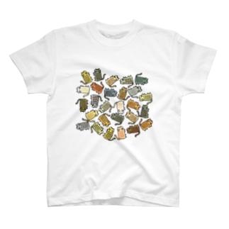 いろいろなしましまねこ T-shirts