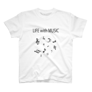 LIFE with MUSIC T-shirts