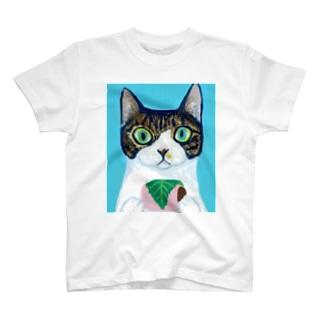 のっぴきならない/保護猫モッチー T-shirts