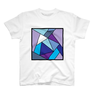 三角の共演(寒色) T-shirts