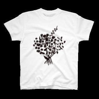 shirokumasaanの花 Tシャツ