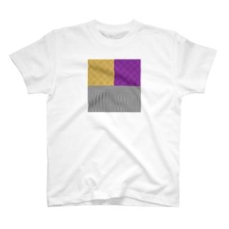 かたよったの和柄(お芋カラー) T-shirts