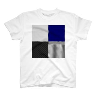 和柄(灰/紺) T-shirts
