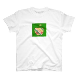 福島発信リンゴちゃん緑バージョン T-shirts