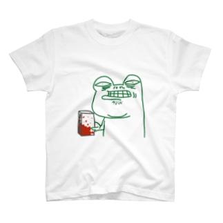 ブロックを持ったカエル T-shirts