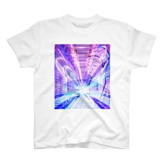 ブッダ 祈り サイバー T-shirts
