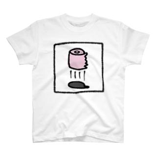 空飛ぶトイレットペーパー T-shirts