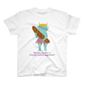鬼とフランスパン T-shirts