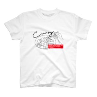 カレー飛ばしても気にならない T-shirts