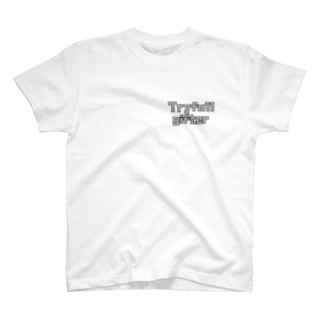 Tryfull gifter グレーロゴ T-shirts
