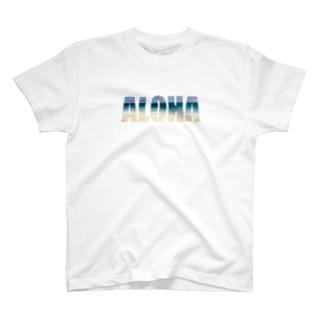 ALOHA × ビーチ@ハワイ T-shirts