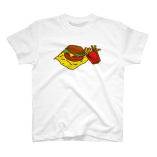 ネコックさんのハンバーガー T-shirts
