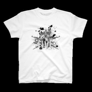 シューティングバーFIVEのペンキぶちまけFIVEロゴ(グレー) T-shirts