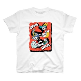 こまいぬちゃんとおいなりちゃん T-shirts