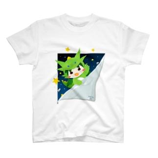 宇宙からひょっこりテン T-shirts