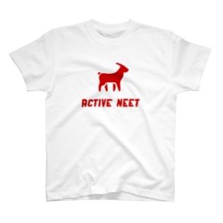 アクティブニート REDロゴ T-shirts