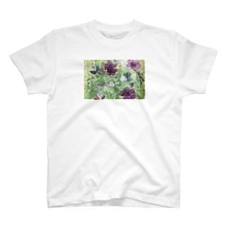 抽象画 pansy T-shirts