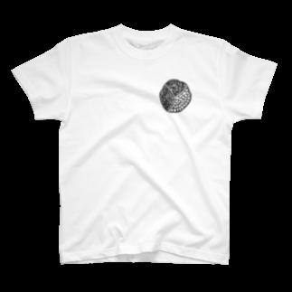 ちゃんリオの前立腺(モノクロ) T-shirts