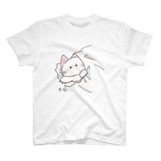 突き破りネコさん T-shirts