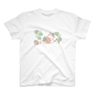 いちご猫さん T-shirts