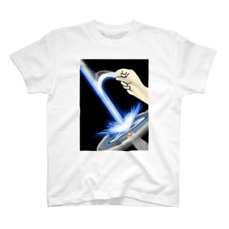 ちびシャトルの裂けるビーム T-shirts