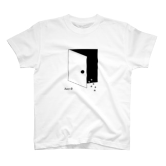 ドアがあいてますよ。 T-shirts