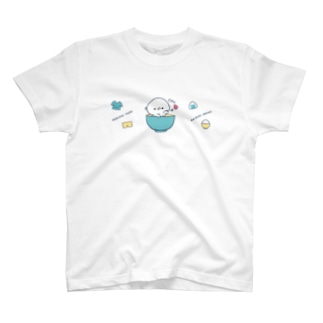 お茶碗タロー(ブルー系) T-shirts