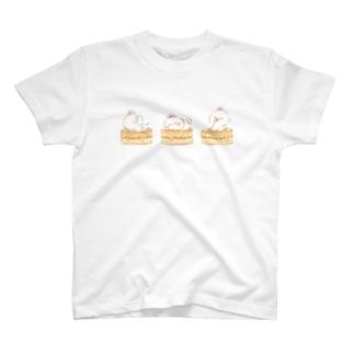 うさパンケーキTシャツ T-shirts