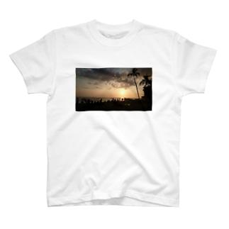 sunset in Hawaii T-shirts