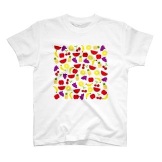 あの子のフルーツ柄 T-shirts