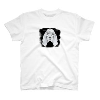 バセットハウンド・切り絵 T-shirts