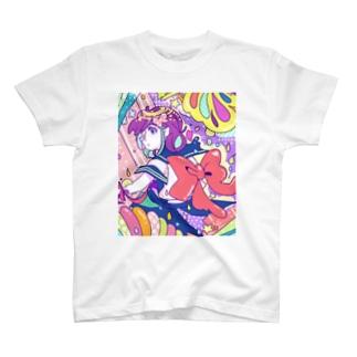 リボンとおんにゃのこ T-shirts