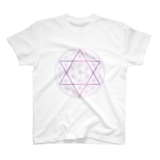 フラワーオブライフ(神聖幾何学) T-shirts
