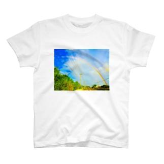 ダブル・レインボー T-shirts