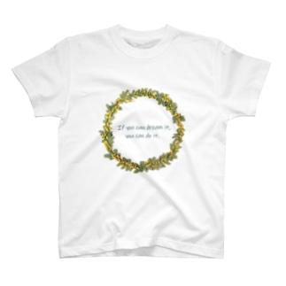 ミモザのリース T-Shirt