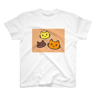 にゃんこファミリー T-shirts