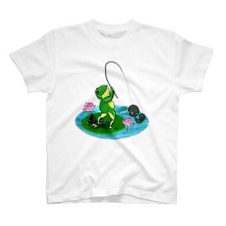 釣りかえるさん T-shirts
