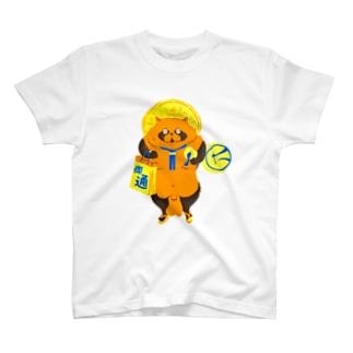 信楽たぬき風たぬき T-shirts
