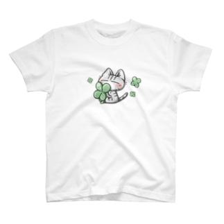 キジトラ猫さんとクローバー T-shirts